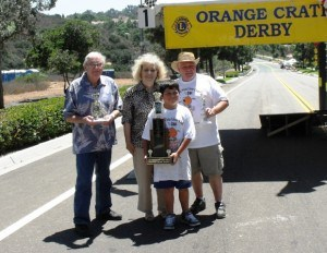 Champion of hill 2012 with founder, Pat Dolan and former race organizers Lee Roberts and Al Hooper.