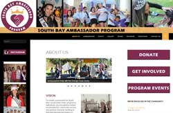 This website is for an active service and pageant program in the San Diego South Bay. It includes social media feeds and a front page slider.
