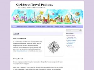 A site where girl scout travel itineraries, photos and paperwork could be shared.